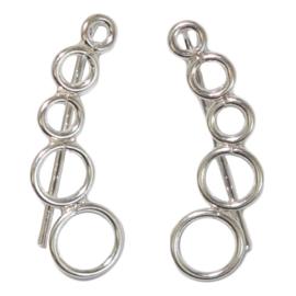 Oorlijn oorbellen 925 zilver Jilla