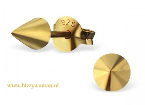 Oorknopjes gold plated Kegel