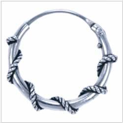 Oorringetjes 925 zilver Koh Phi Phi 14mm