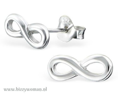 Oorknopjes 925 zilver Infinity
