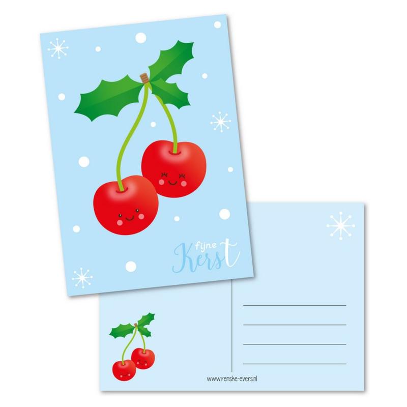 Ansichtkaart - Fijne kerst