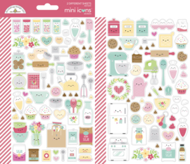 Doodlebug Design Made With Love Mini Icons Sticker