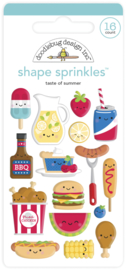 Doodlebug Design Taste of Summer Shape Sprinkles