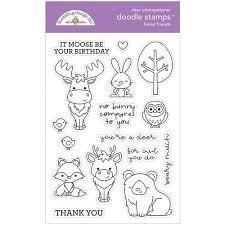 Doodlebug Design Forest Friends Doodle Stamps