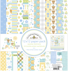 Doodlebug Design Special Delivery 12x12 Inch Paper Pack