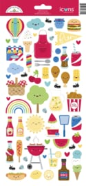 Doodlebug Design Bar-b-cute Icons Stickers
