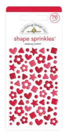 Doodlebug Design Ladybug Confetti Shape Sprinkles