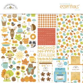 Doodlebug Design Pumpkin Spice 12x12 Inch Essentials Kit