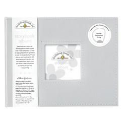 Doodlebug Design Grey 8x8 Inch Storybook Album (3489)