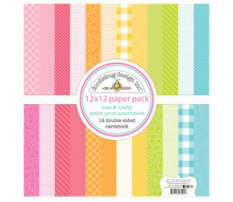 Doodlebug Design Cute & Crafty 12x12 Inch Petite Print Paper Pack