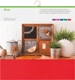 Cricut Corrugated Cardboard 12x12 Inch Brights Sampler