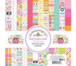 Doodlebug Design Cute & Crafty 6x6 Inch Paper Pad