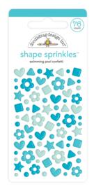 Doodlebug Design Swimming Pool Confetti Shape Sprinkles