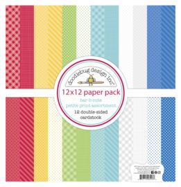 Doodlebug Design Bar-b-cute 12x12 Inch Petite Print Paper Pack
