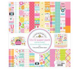 Doodlebug Design Cute & Crafty 12x12 Inch Paper Pack