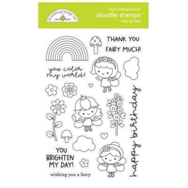 Doodlebug Design Fairy Garden Doodle Stamps (7211)