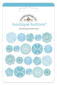 Doodlebug Design Swimming Pool Boutique Buttons