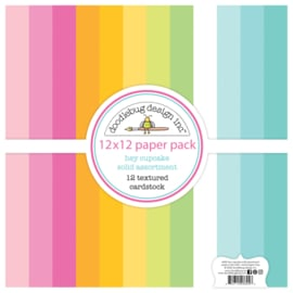 Doodlebug Design Hey Cupcake 12x12 Inch Textured Cardstock Paper Pack
