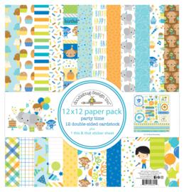 Doodlebug Design Party Time 12x12 Inch Paper Pack