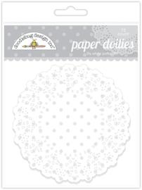 Doodlebug Design Lily White Polka Dot Doilies