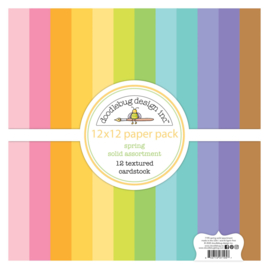 Spring 12x12 Inch Textured Cardstock Assortment Pack (7195)