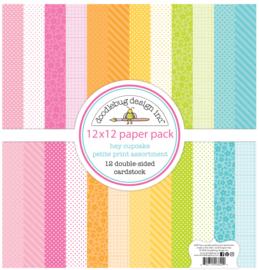 Doodlebug Design Hey Cupcake 12x12 Inch Petite Print Paper Pack