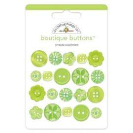 Doodlebug Design Limeade Boutique Buttons