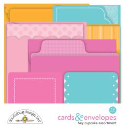 Doodlebug Design Hey Cupcake Cards & Envelopes