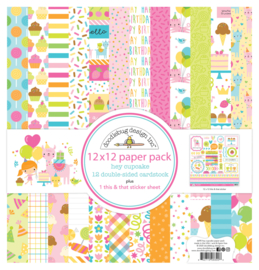 Doodlebug Design Hey Cupcake 12x12 Inch Paper Pack