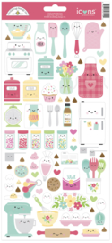 Doodlebug Design Made With Love Icons Sticker
