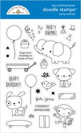 Doodlebug Design Party Animals - Boy Doodle Stamps