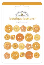 Doodlebug Design Tangerine Boutique Buttons
