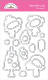 Doodlebug Design Birthday Girl Doodle Cuts
