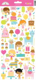 Doodlebug Design Hey Cupcake Icons Sticker