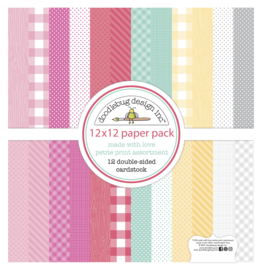 Doodlebug Design Made With Love 12x12 Inch Petite Print Paper Pack