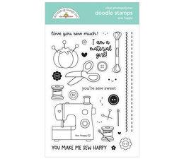 Doodlebug Design Sew Happy Doodle Stamps