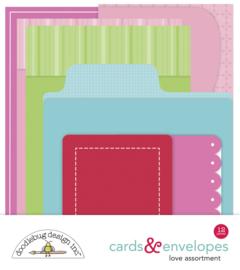 Doodlebug Design Love Cards & Envelopes