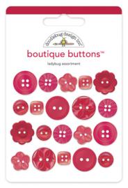 Doodlebug Design Ladybug Boutique Buttons