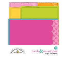 Doodlebug Design Bright Assortment Cards & Envelopes