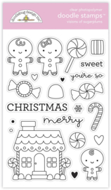 Doodlebug Design Visions of Sugarplums Doodle Stamps