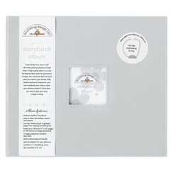 Doodlebug Design Grey 12x12 Inch Storybook Album (3487)