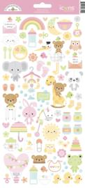 Doodlebug Design Bundle of Joy Icons Stickers