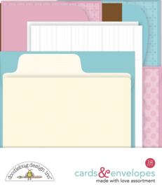 Doodlebug Design Made With Love Assortment Cards & Envelopes
