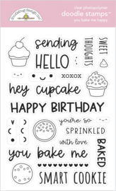 Doodlebug Design You Bake Me Happy Doodle Stamps