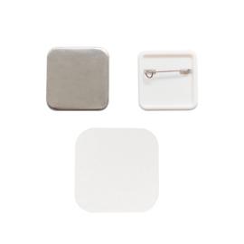 Button press pin back refill Square