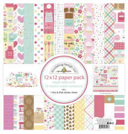 Doodlebug Design Made With Love 12x12 Inch Paper Pack