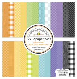 Doodlebug Design Ghost Town 12x12 Inch Petite Print Assortment Pack
