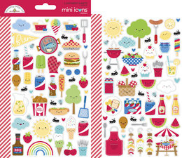 Doodlebug Design Bar-b-cute Mini Icons Stickers