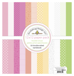 Doodlebug Design Bundle of Joy 12x12 Inch Petite Print Paper Pack