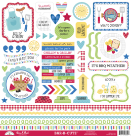 Doodlebug Design Bar-b-cute This & That Stickers